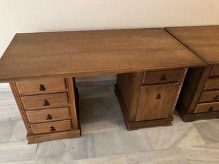 Mesa escritorio madera pino de segunda mano por 165 en - Garajes de madera de segunda mano ...