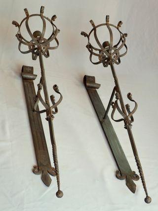 Antorchas medievales de la orden del temple forja