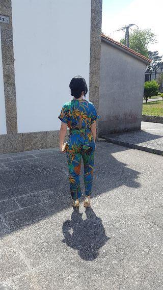 Zara mono tropical talla S