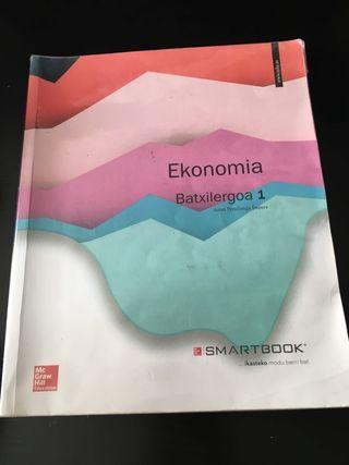 libro 1 bachiller economía euskera