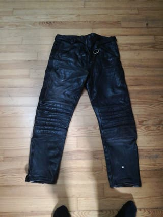 pantalones moto cuero