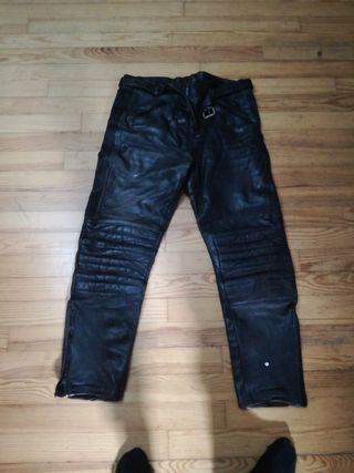 pantalones moto cuero xl