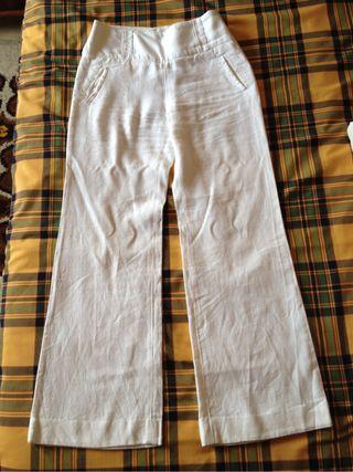 Pantalón blanco lino