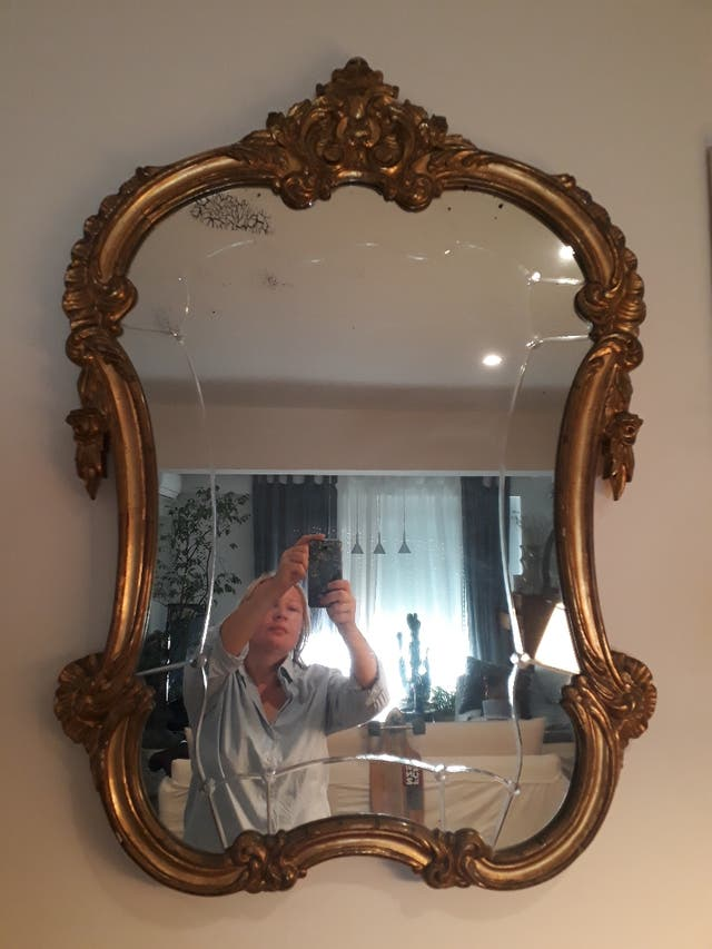 Vendo antiguo espejo grande de segunda mano por 150 en for Espejos antiguos grandes