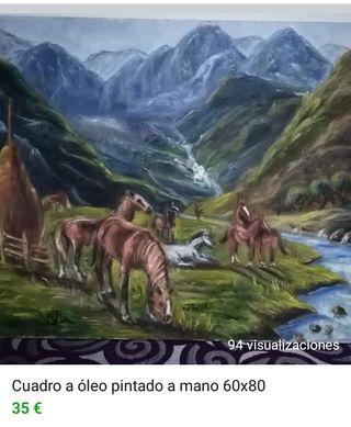 cuadro a óleo pintado a mano