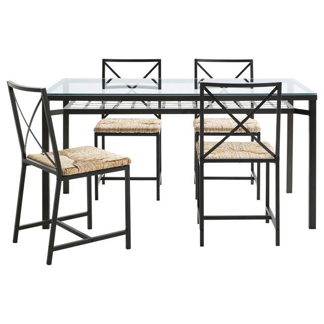 Mesa comedor Ikea encimera de cristal (sin sillas) de segunda mano ...