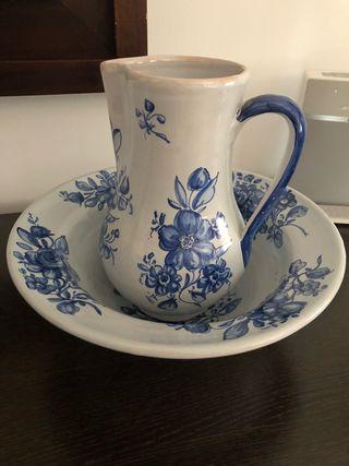 Palangana y jarra cerámica