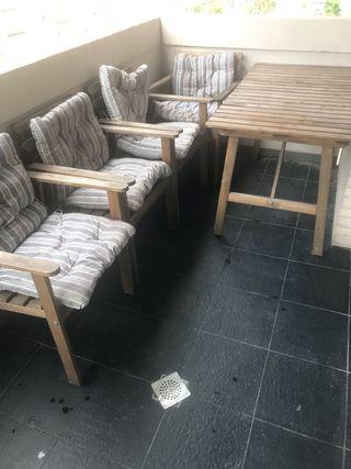 Mueble ikea terraza de segunda mano en wallapop for Conjunto de terraza ikea