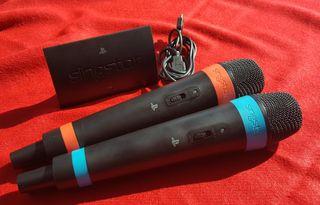 Micrófonos inalámbricos + adaptador USB PS3