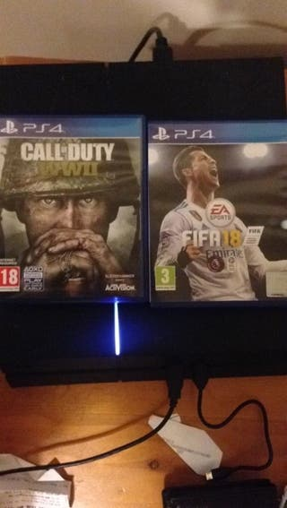 sony ps4 500gb with 2 games