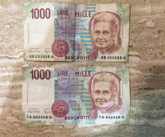 Billetes 1000 Lire Mille 1990 De Segunda Mano Por 30 En Sant