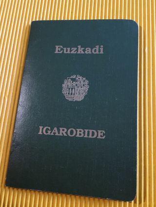 Pasaporte vasco antiguo reproducción