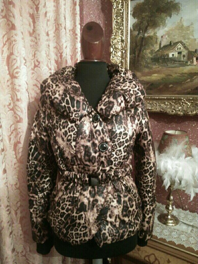 chaqueta abrigo NUEVO plumifero leopardo talla M