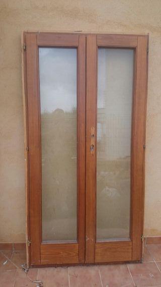 puerta 2 hojas cristal climalit
