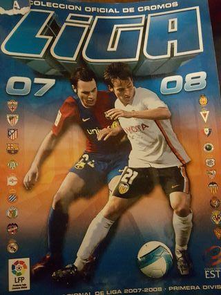 album de cromos liga 2007-2008
