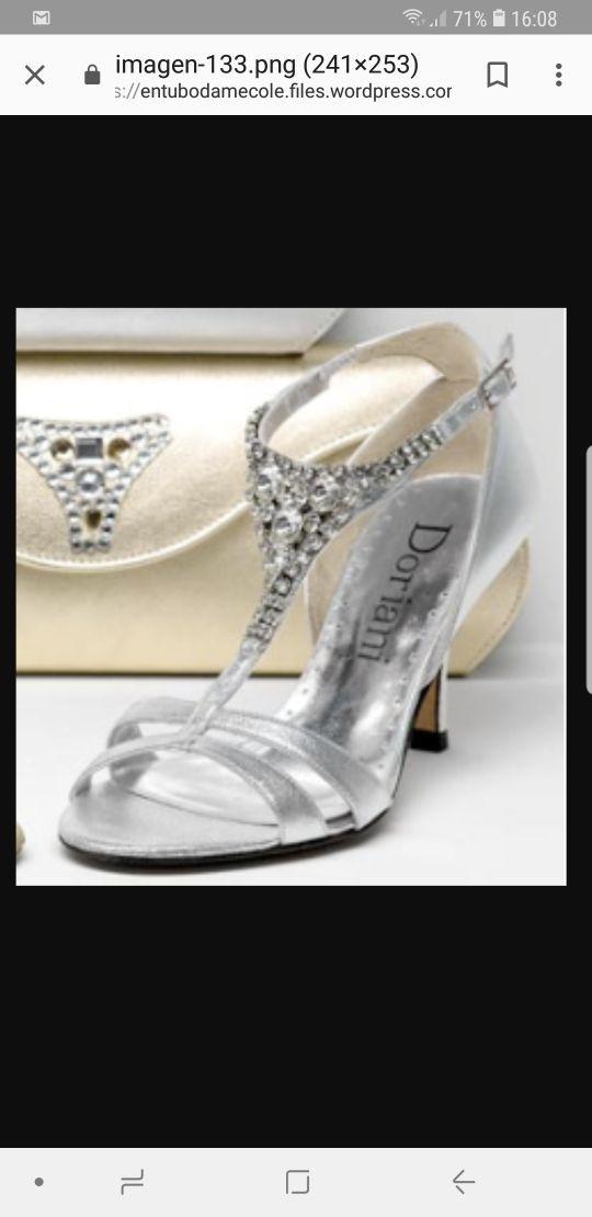 brillante en brillo color rápido ahorros fantásticos Doriani zapatos/sandalias plata T.38 swaroski de segunda ...