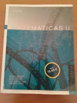 Libro segundo bachillerato Matemáticas II