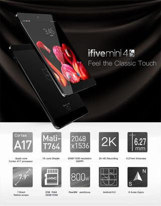 "ifive mini 4s. Tablet 8"". Pantalla 2k. Android 6.0"