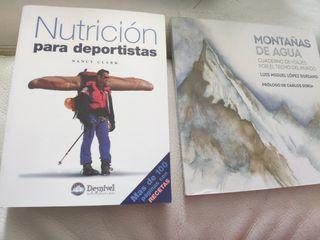 libros montañas de agua nutrición para deportistas