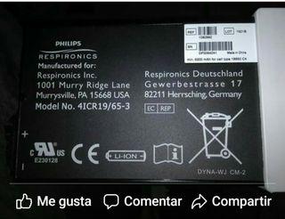bateria respirador portatil