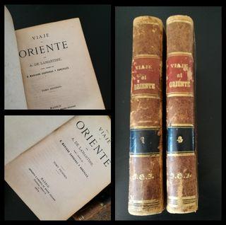Viaje al oriente,2 tomos 1874.Alfonso de Lamartine
