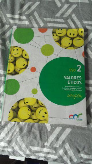 Libro de Valores Éticos de 2 de la ESO.