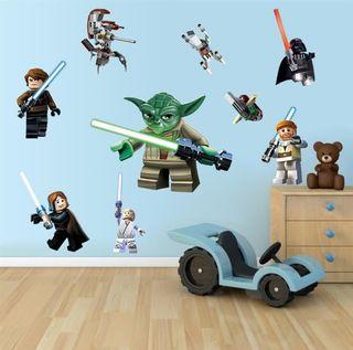 9 Pegatinas pared Star Wars