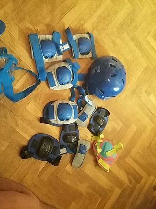 protecciones patines bici