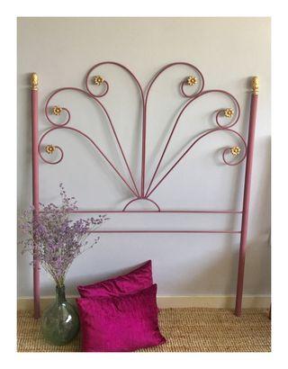 Cabecero forja rosa antiguo