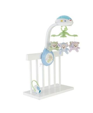 Carrusel ositos Fisher Price cuna
