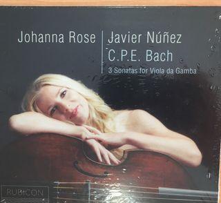 3 sonatas for viola da Gamba. Nuevo precintado