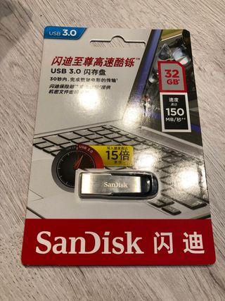 Pendrive Sandisk 32GB 3.0 precintado
