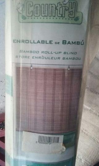 Persiana enrrollable de bambú