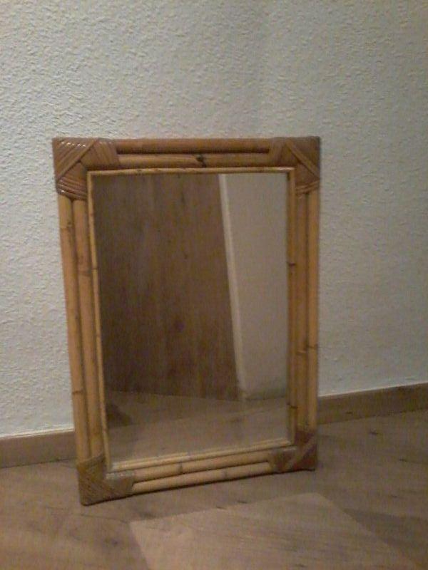 Espejo con marco de caña 43 x 60 de segunda mano por 10 € en Paterna ...