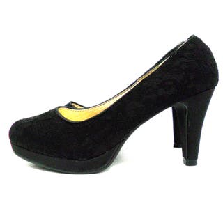 Zapato negro con encaje