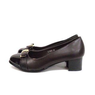 Zapato de tacón marrón chocolate