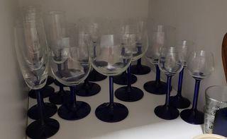 juego de copas cristal