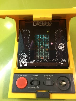 Tabletop LCD color Gakken Dig dug tipo Coleco,nintendo Game watch casio,sega,Bandai,Atari,