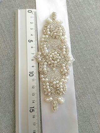 Aplique para cinturón vestido novia / invitada