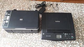 Impresoras HP y Brother