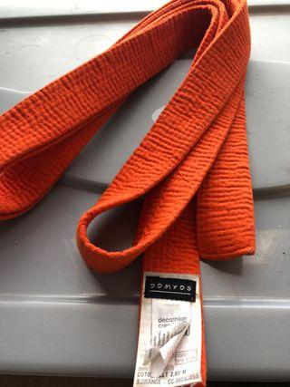 Cinturón judo Naranja