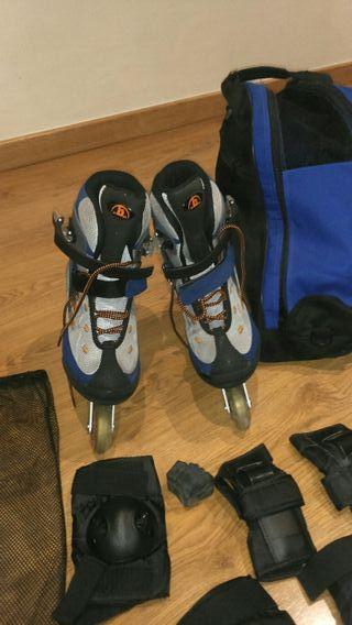 conjunto patines + protecciones