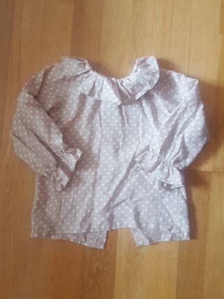 Camisa niña topitos