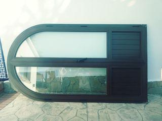 ventanales de aluminio climalix 2 hojs+vent baño