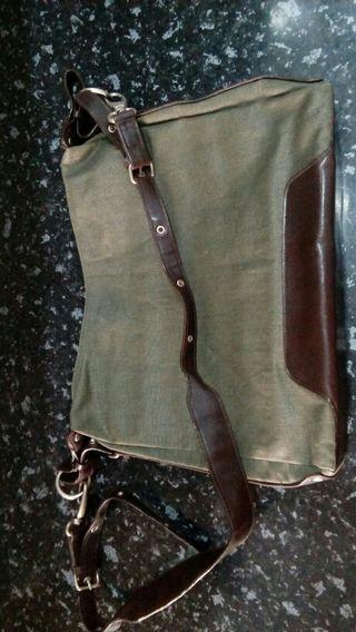 bolso unisex verde marron