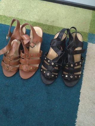Sandalias 18 euros los dos pares