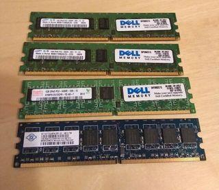Memoria RAM 4x1Gb DIMM 240-pin PC2-5300 (DDR2-667)