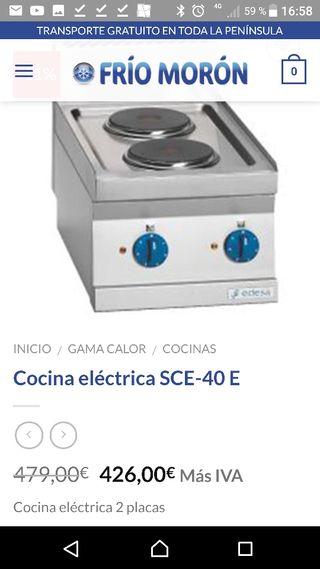 Cocina dos placas electrica