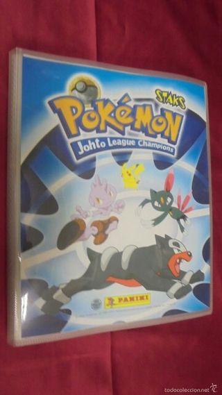 álbum staks Pokemon johto league completo