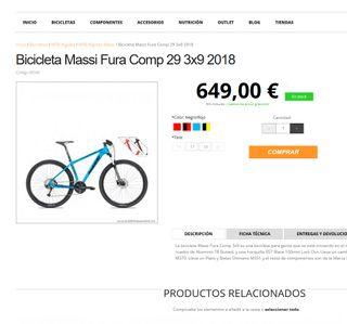 bicicleta MTB Massi fura 29 3x9 2018